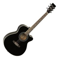 Discovery DBTSFCE Acoustic Guitar Black