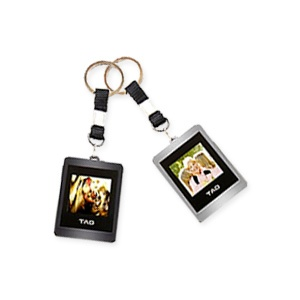 1.5`` Digital Photo Keychain - Black &