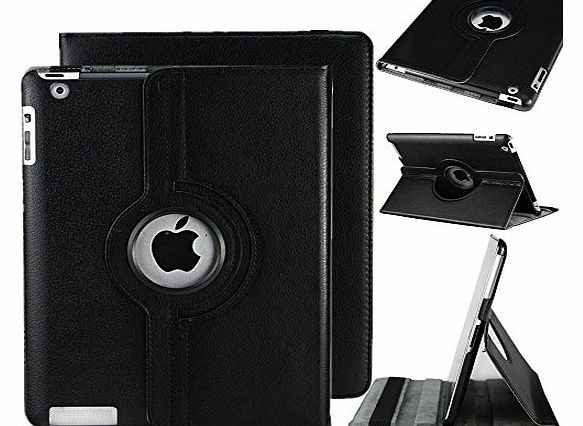 TB1 Products Best Quality Apple Ipad air (2013-14)/ Ipad 5 360 Rotating Magnetic PU Leather Case (Black) Smart Cover Stand for Apple Ipad air (2013-14)/ Ipad 5