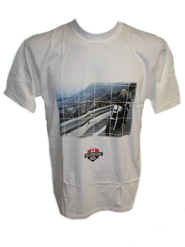 Villeneuve on Bike T-Shirt White