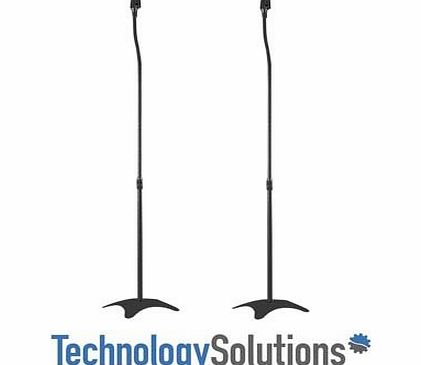 TechSol Black Universal Surround Sound Speaker Stands fit Sony, Samsung , LG , Panasonic Systems