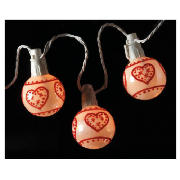 20 Low Voltage Bauble Lights With Red