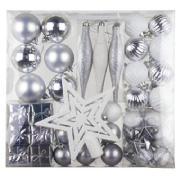 50 piece silver decoration pack