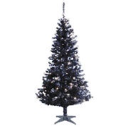 6ft Black Pre-Lit Christmas Tree with 100