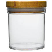 Bamboo and Acrylic Storage Jar Small