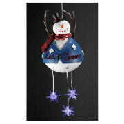 Battery Operated LED Snowman Mobile Light