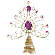 Bronze Tree Topper with gems