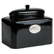Country Kitchen Bread Canister Black