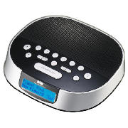 tesco cr112dabv dab clock radio review compare prices buy online. Black Bedroom Furniture Sets. Home Design Ideas