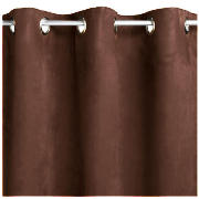 Faux suede unlined Eyelet Curtains 66X54