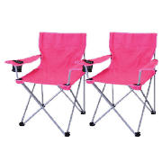 folding armchair pink 2 pack
