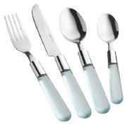 Frosted Handle Cutlery Blue 16pce