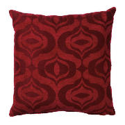 Ogee Jacquard Cushion Red, Ryley