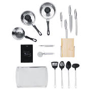 Prep and Cook 16 Piece Stainless Steel
