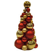 Red & Gold Bauble Tree