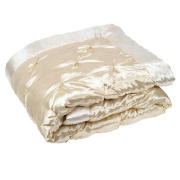 Satin Bedspread Double/ King, Gold 200x220cm