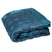 Satin Bedspread Double/ King, Teal 200x220cm