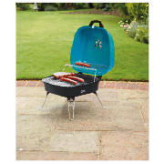 square portable charcoal bbq turquoise