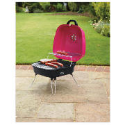 Square portable suitcase charcoal bbq pink