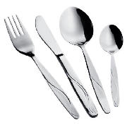 Wave Stainless Steel Cutlery 16pce