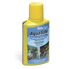 Tetra aqua safe aquarium water conditioner 100ml by tetra for How to make tap water safe for fish without conditioner