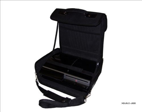 Sony Playstation 3 PS3 Black Deluxe Console Carry Bag/Case. Also for In Car Use.