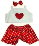 HEART PJS FIT 15 BUILD A BEAR FACTORY