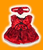 LADY BIRD OUTFIT FITS 15 BUILD A BEAR FACTORY