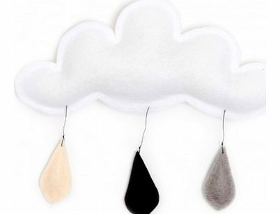 Cloud mobile rain of color grey/black/cream `One