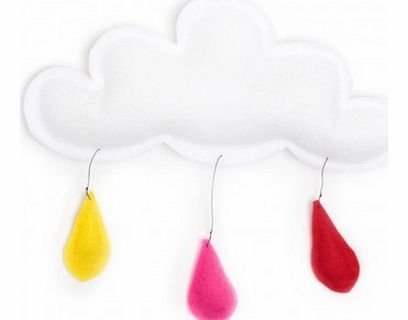 Cloud mobile rain of color red/pink/yellow `One