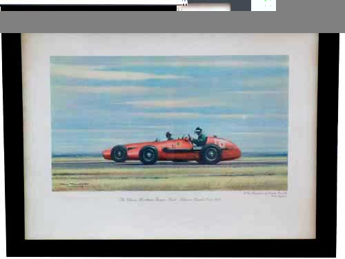 classic Hawthorn and Fangio duel and#8211; Signed and Framed