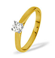 PETRA 18KY DIAMOND SOLITAIRE RING 0.33CT H/SI