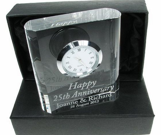 50th Wedding Anniversary Gift, Engraved 50th Wedding Anniversary Crystal Clock, 50th Wedding Anniversary Gifts, Golden Wedding Anniversary Gifts