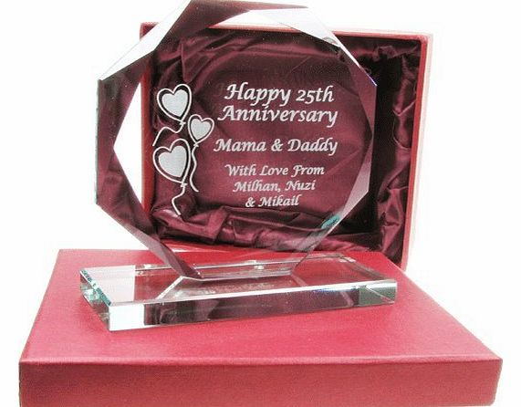 50th Wedding Anniversary Gift, Engraved Presentation Cut Glass Gift, 50th Wedding Anniversary Gifts, Golden Wedding Anniversary Gifts