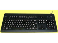 THE KEYBOARD COMPANY Best Quality High Visibility White on Black