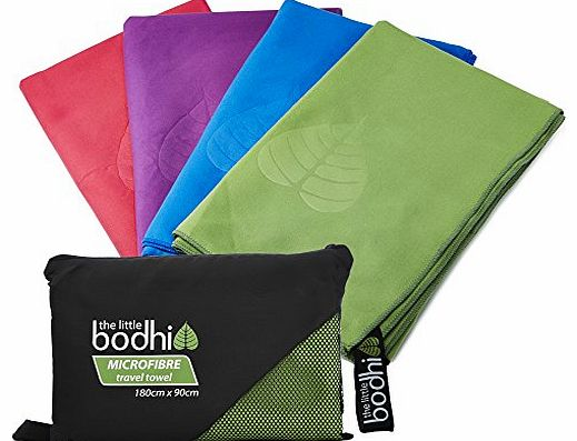The Little Bodhi Microfibre Travel Towel - 180x90cm Green