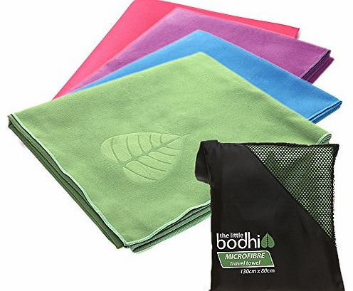 The Little Bodhi Microfibre Travel Towel (Green) for beach, camping, sports, gym, yoga or pilates