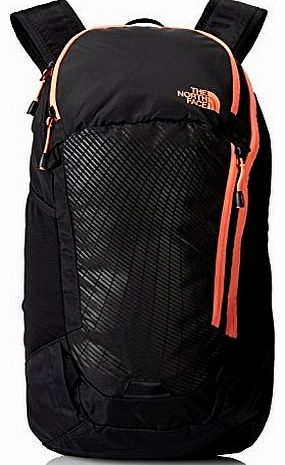 Womens Pinyon Backpack - TNF Black/Electro Coral Orange, One Size
