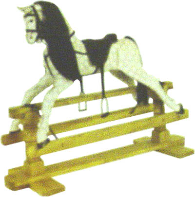 Medium Painted Rocking Horse on Stand