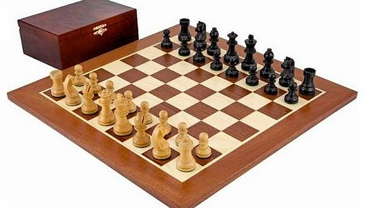 The Down Head Black Championship Chess Set