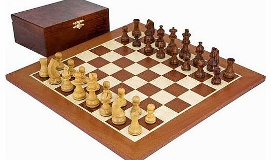 The Down Head Sheesham Championship Chess Set