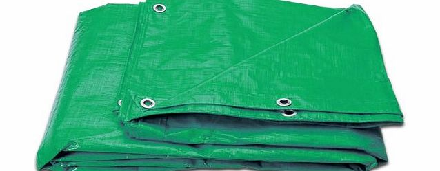2 Pack Of Strong Green Waterproof Tarpaulin Ground Sheet Covers For Camping, Fishing, Gardening & Pets - 1.2m x 1.8m / 4ft x 6ft - Comes With TCH Anti-Bacterial Pen!