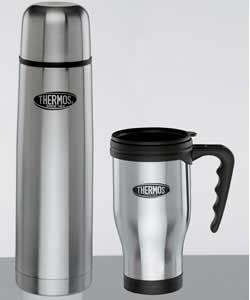 1 Litre Flask, 0 .35 Litre Food Flask and Mug Set