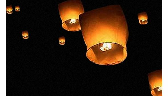 Thumbs Up Flying Sky Lanterns, Traditional Chinese Flying Glowing Lanterns, 10 Pack