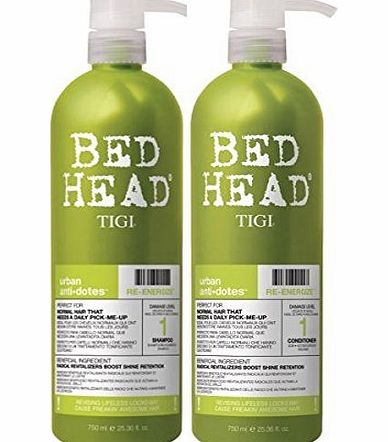TIGI - BedHead Urban anti dotes Level 1 - Re-Energize Shampoo amp; Conditioner Tween Duo 2x 750ml