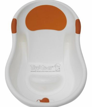 Mini Bath - White/Orange