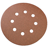 Titan Sanding Discs Punched 125mm 80 Grit Pack of 10