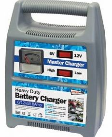 TOOLTIME Streetwize SWBCG8 Automatic Plastic Cased Battery Charger 6/ 12 V 8 A