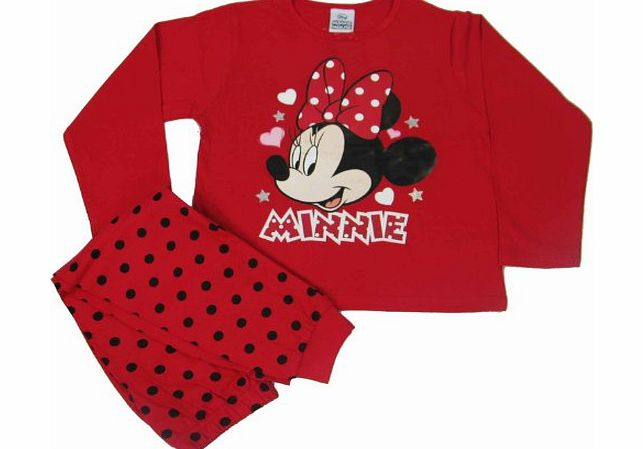 Childrens Boys and Girls Long Sleeve Character Pyjamas Pjs - Minnie Mouse and Cat 2 - 3