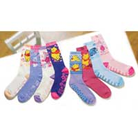 Totes Ladies Winnie the Pooh Slipper Sox Per Pair - Various Colours